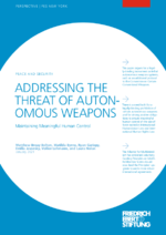 Addressing the threat of autonomous weapons